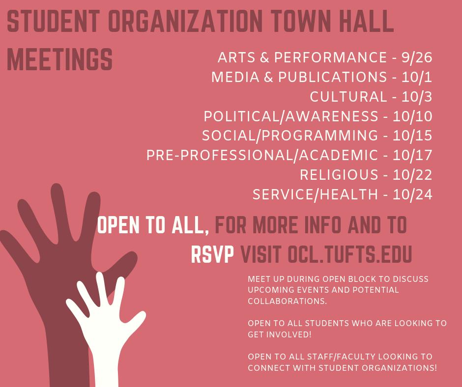 Student Organization Town Halls